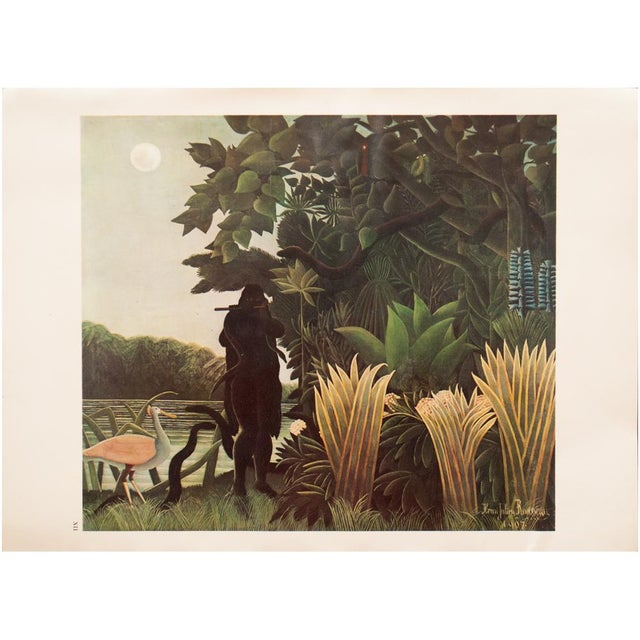 """Red 1966 Henri Rousseau, """"The Waterfall"""" Photogravure From Milan For Sale - Image 8 of 11"""