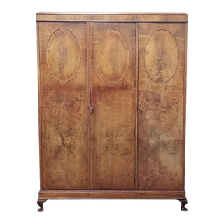Vintage Triple Door Armoire C.1920 For Sale