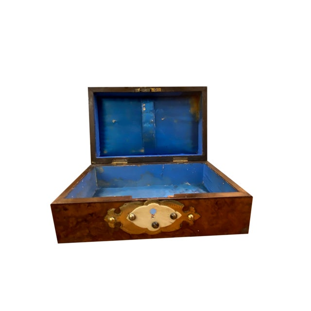 19th Century 19th Century Dome Top Box With Ivory and Brass For Sale - Image 5 of 7