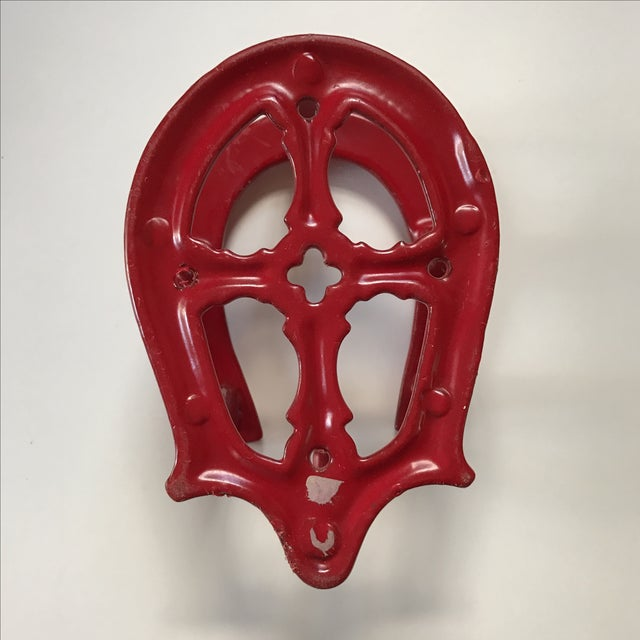 Red Horseshoe Hook For Sale - Image 4 of 5
