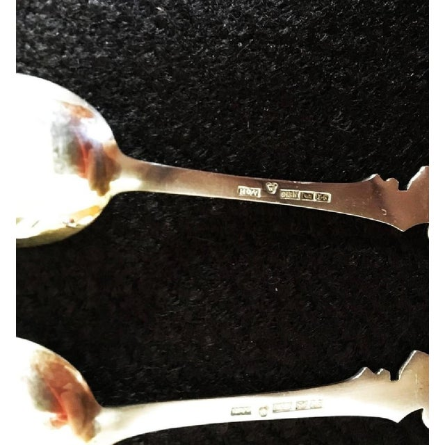 French French Teaspoons and Silver & Gold Cake Server, 1950s - Set of 13 For Sale - Image 3 of 8