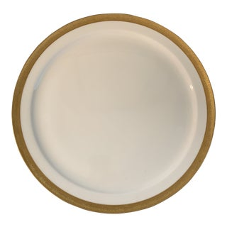Tiffany White and Gilt Large Platter For Sale