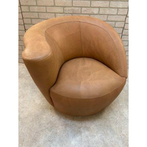 Mid Century Modern Vladimir Kagan Cloud Sofa and Nautilus Swivel Lounge Chair - 2 Piece Set For Sale In Chicago - Image 6 of 11