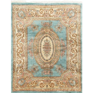 1940s Vintage Persian Kirman Rug - 8′ × 10′ For Sale