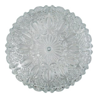 Traditional Floral Hatch Limburg Glass Flush Mount For Sale