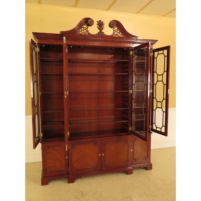 Kindel Four Door Mahogany Breakfront China Cabinet For Sale - Image 10 of 13