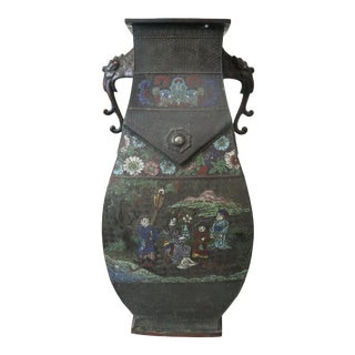 Antique Japanese Cloisonne Floor Planter/Vase For Sale