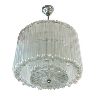 Italian Hand Blown Murano Glass Links Chandelier For Sale