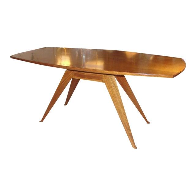 Sculptural Italian Walnut Dining Table - Image 1 of 5