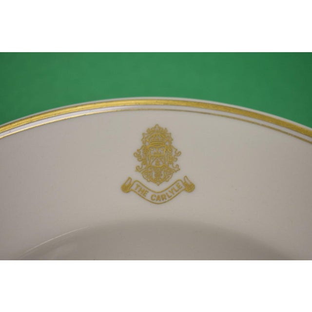 This is a vintage soup bowl from the Carlyle Hotel, made by Shenago. The piece dates back to the 1950s.