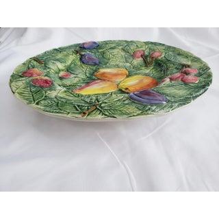 Green Embossed Italian Ceramic Fruit Platter Preview
