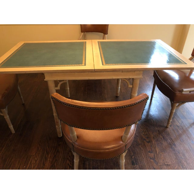 1950s Vintage Game and Card Table With Chairs For Sale - Image 5 of 13