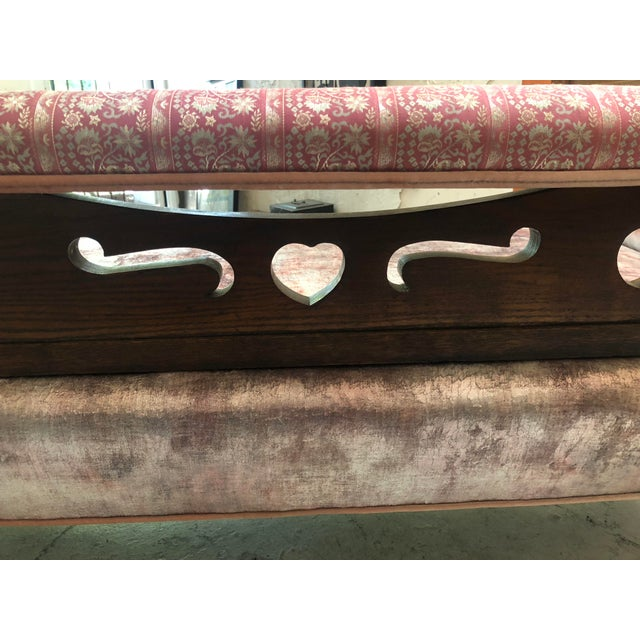 1920s Art Nouveau Plush Pink Chaise Lounge For Sale - Image 9 of 11