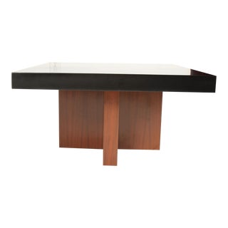 Pair of Milo Baughman Lacquered Walnut End Tables by Thayer Coggin For Sale