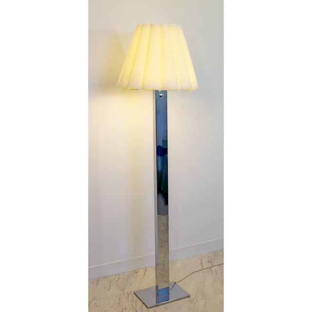 For your consideration is a Robert Sonneman five bulb floor lamp, made of polished steel chrome, with original shade and...