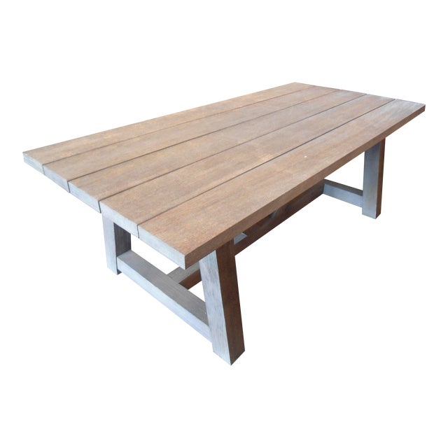 Restoration Hardware French Teak Dining Table For Sale