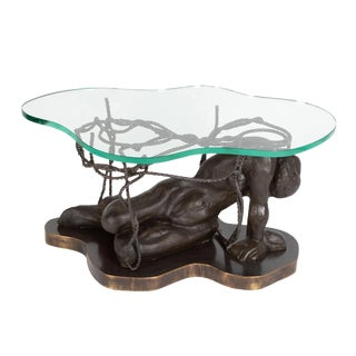 """Persephone Enslaved"" Coffee Table by Philip and Kelvin LaVerne, Circa 1970s For Sale"
