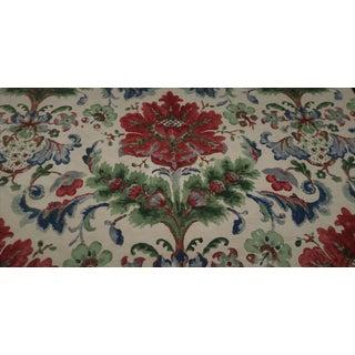 """Traditional Brunschwig & Fils """"Windsor Damask"""" Floral Motif Fabric - 5 Yards For Sale"""