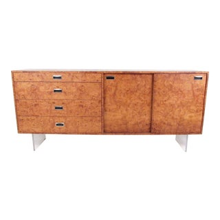 Harvey Probber Sideboard in Burlwood and Lucite For Sale