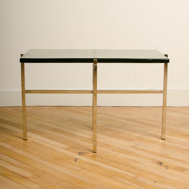 Italian Mid-Century Smoky Glass Top End Tables - a Pair For Sale In Philadelphia - Image 6 of 13