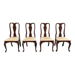 Kling Furniture Cherry Queen Anne Dining Chairs - Set of 4 For Sale