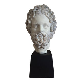 1950s Vintage Alva Reproduction Asklepios Asclepius, Greek God of Healing Bust For Sale