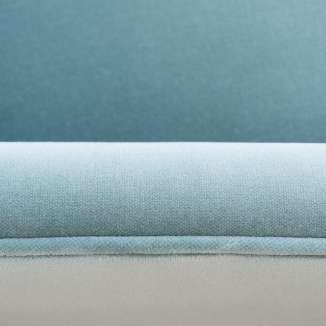 Mid-Century Club Chairs in Sea Velvet, Pair For Sale - Image 9 of 10