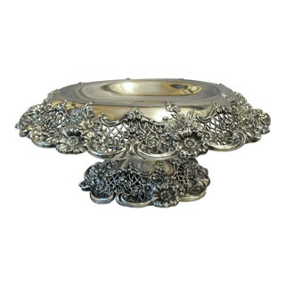 Early 20th Century Vintage Sterling Silver Centerpiece Compote For Sale