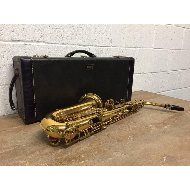 Art Deco French Alto Saxophone by Henri Selmer For Sale - Image 3 of 6