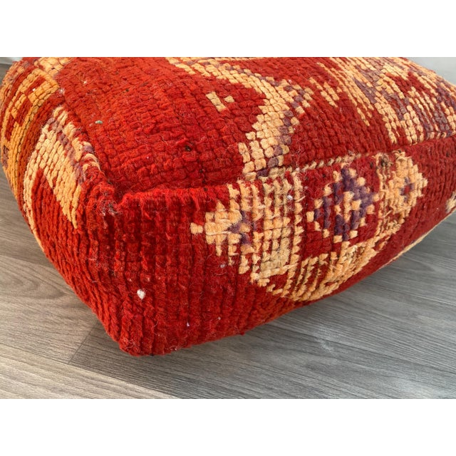 1980s 1980s Vintage Moroccan Pouf Cover For Sale - Image 5 of 13