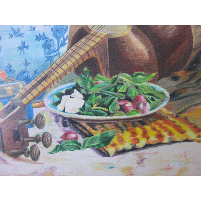 Eastern Culture Realism Colored Pencil Painting - Image 4 of 11