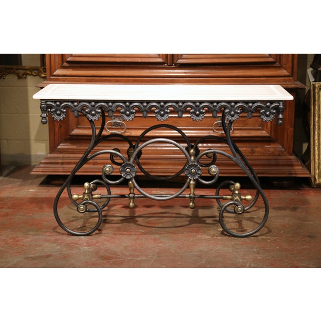 This long, narrow French butcher table (or pastry table) would add the ideal amount of surface space to any kitchen. This...