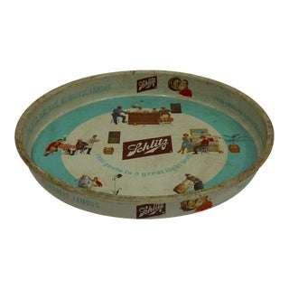 Schlitz Beer Vintage Beverage Serving Tray, Circa 1962