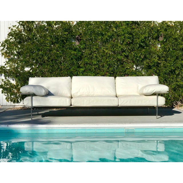 "It doesn't get more architectural than this oversized classic 3-seat Italian Modern ""Diesis"" Sofa. Designed by Antonio..."