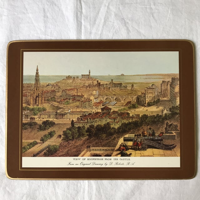 Cork Traditional English Scene Placemats - Set of 6 For Sale - Image 7 of 9
