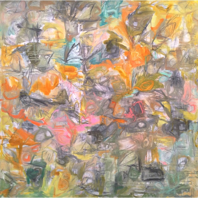 """Hullaballoo"" Abstract Painting by Trixie Pitts - Image 1 of 3"