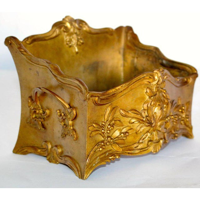 19th Century French Decorated Gilt Bronze Box - Image 4 of 11