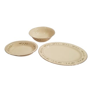 Lenox Brookdale Platter, Round Bowl and Oval Bowl - Set of 3 For Sale