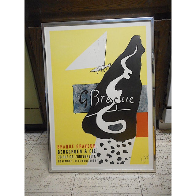 Lithograph Vintage Mid 20th Century Modern Poster-Georges Braque 1953 For Sale - Image 7 of 7