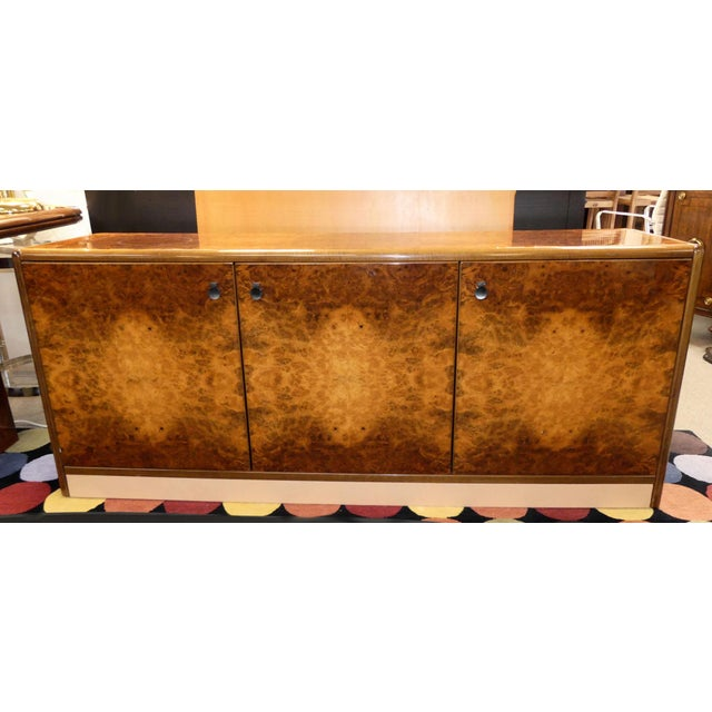 Vintage Roche Bobois Lacquered Burl Wood Credenza For Sale - Image 12 of 12