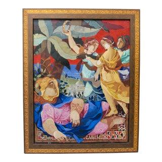 """Alvar Sunol Artist's Proof Signed Original Embellished Serigraph """"Allegory of Insomnia"""" For Sale"""