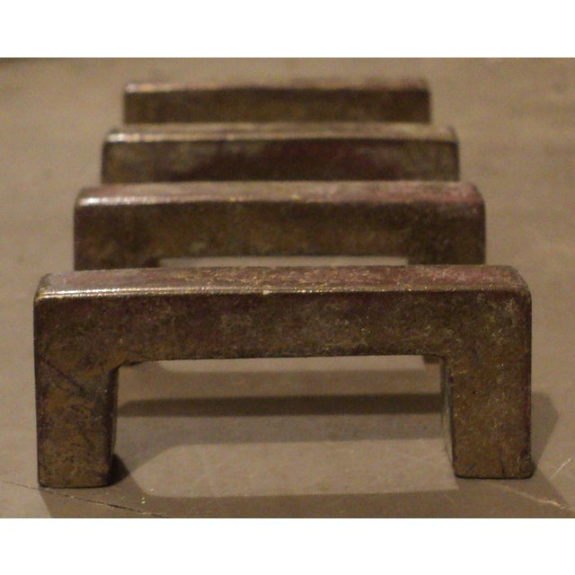 Mid Century Modern Brass Drawer Pulls - Set of 4 - Image 3 of 5