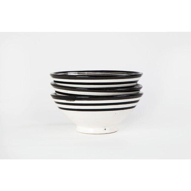 Boho Chic Black Bowls - Set of 3 - Image 4 of 5