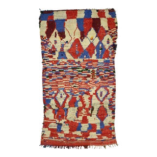 Mid-Century Modern Berber Moroccan Rug with Abstract Design For Sale