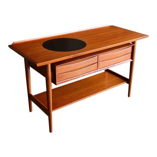 Danish Modern Arne Vodder for Sibast Mobler Teak Console Table For Sale