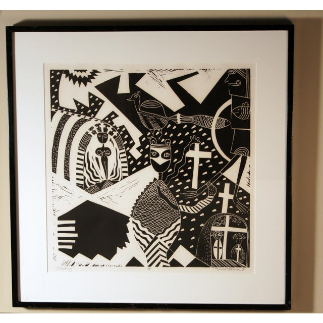 """Susie Ketchum """"Sanctuary"""" Artist Proof Linocut Print. Susie Ketchum creates highly detailed, hand painted, densely..."""