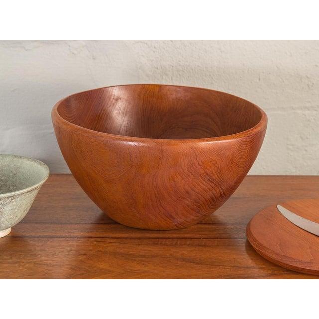 Walnut Large American Walnut Serving Bowl For Sale - Image 7 of 8