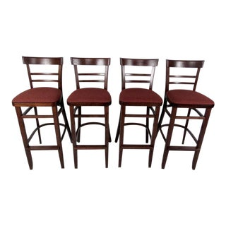 Contemporary Modern Upholstered Stools - Set of 4 For Sale