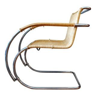 Mid Century Modern Mies Van Der Rohe MR20 Armchair For Sale