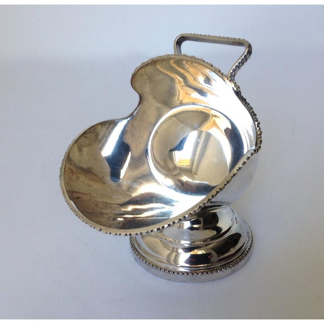 English Silver Plate Salt Cellar with Scoop For Sale - Image 9 of 11